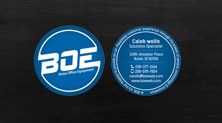 circle business card design ideas