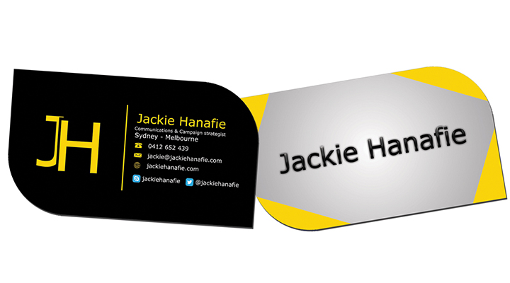 leaf business card design example