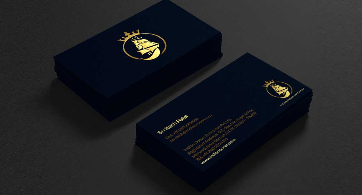 luxury business cards design idea