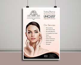 Leaflet Design for Beauty Company