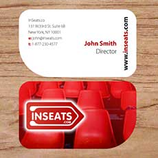 half round business card for company