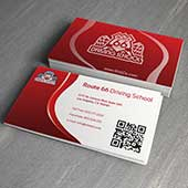 business card design with QR